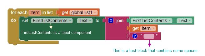 Display list items